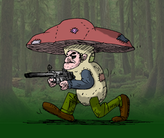 Mushroom hunter by oldiblogg