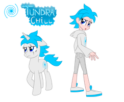 Commission: Tundra Chill - Pony/ Human by Trinityinyang