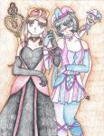 Queen and Jester by my-bloodi-masquerade
