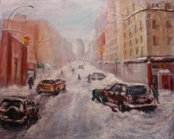 NY CITY SNOW by Wulff-Arts