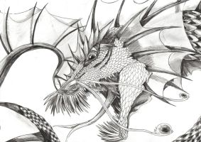 Sea serpent sketch by BobbyDazzl3r