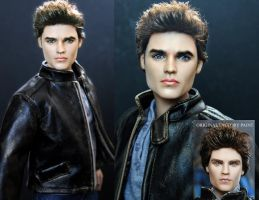 Vampire Diaries Stefan custom doll repaint by noeling