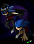 Dr.Sonic Mr. EXE by Sir--Lancelot