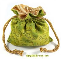 Faery Motes Printed Cotton Satin Lined Dice Bag by Pasiphilo