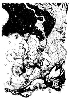 HELLBOY - Spirits of the forest by alessandromicelli