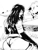 Psylocke Ink by TeamAmazing