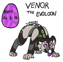 Venor the Evoloon - Refsheet by Vixenkiba