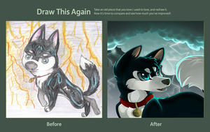 Blu- Draw this again contest by Husky-Heart