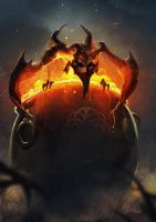 demon out of the cauldron by Magnusss