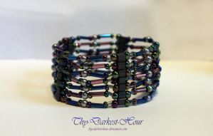 7-Strand Multi-Tone Bracelet (with tutorial) by Thy-Darkest-Hour