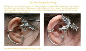 Guardian Dragon Ear Cuff by serena-inverse