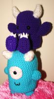 Sarah n Mishi Monsters by designsbymishi