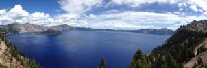 Crater Lake Panorama III by TAHU18