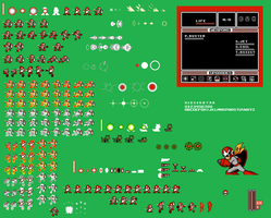 Custom ProtoMan Sprite Sheet by Availation