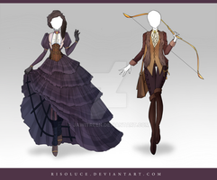 (CLOSED) Adoptable Outfit Auction 114 - 115 by JawitReen