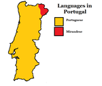 Map of Languages in Portugal by JoaoMordecaiMapper