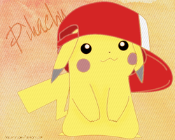 Pikachu hat lineart-Coloring by Kawaii-Ariana