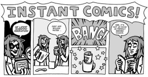 Instant Comics - Ted and Tim Banner by black-rider