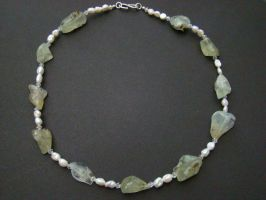 Prehnit Necklace by Mommy-of-Monsters
