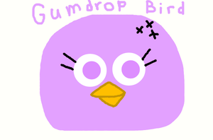 Angry Birds - Gumdrop Bird by worldofcaitlyn