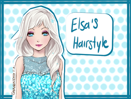 Elsa's Hairstyle by ShaniNeko
