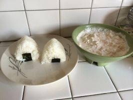 I made rice balls with chicken breast paste inside by Magic-Kristina-KW