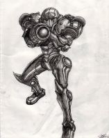 Samus Aran by wildHart4art