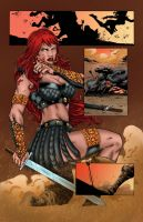 Red Sonja 73 Page 17 Colors by likwidlead