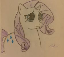 Sad Rarity :( by PrinceTheRipper13