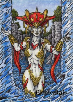 Elementals Sketch Card - Tony Perna 3 by Pernastudios