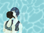 Lesbo Swimmers by JellySam