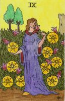 Pentacles 9 by Fernoll