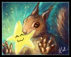 squirrel has a gift for you... by KatCardy