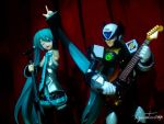 Vocaloid and Reploid by GustavoSD