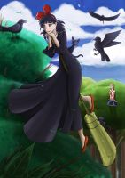 Kiki and the Crows by Cold-Creature