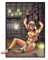 Chained elf colored by lady-cybercat