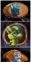 Wood paintings by Penny-Dragon
