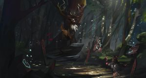 Forest spirit by Akaggy