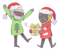 daft christmas (animated!) by daftcosmo