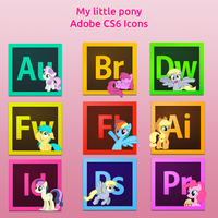My little pony-Adobe CS6 icons by Nyan-PTX