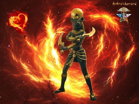 Sekhmet's Fire and Soul Energy by AstralAurora
