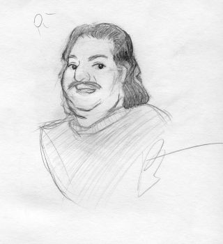 Ron Jeremy sketch by Paulrus-Keaton