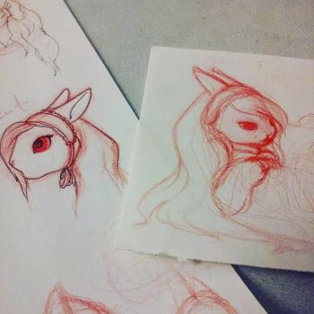 The Red Sketches by AmyAnnie14