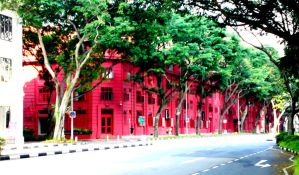 the red building by dindaseh