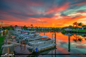 Boats-at-North-Palm-Beach-Marina-Sunset-with-Red-C by CaptainKimo