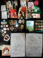 Sakuracon 2012 loot by JohnYume