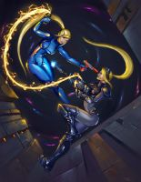 Samus Vs Nova by teriopi