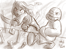 Sans Battle (WIP) by InkRose98