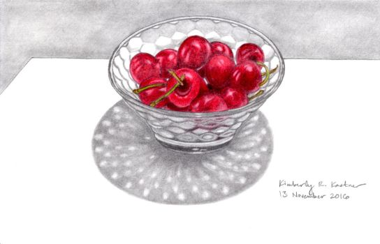 Bowl of Cherries by LuckyNumber113