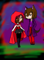 Red riding hood and the wolf by Ruka-Tan